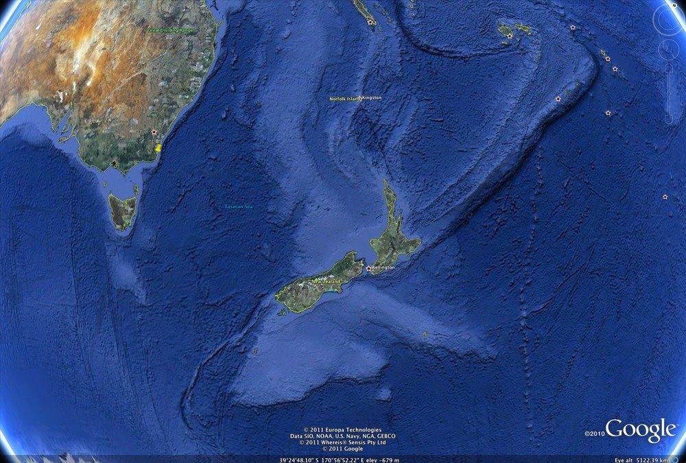 New zealand extended comments for students installed google earth you can see the fault line to the south west of new zealand bottom left corner it runs across the south island of new zealand gumiabroncs Gallery