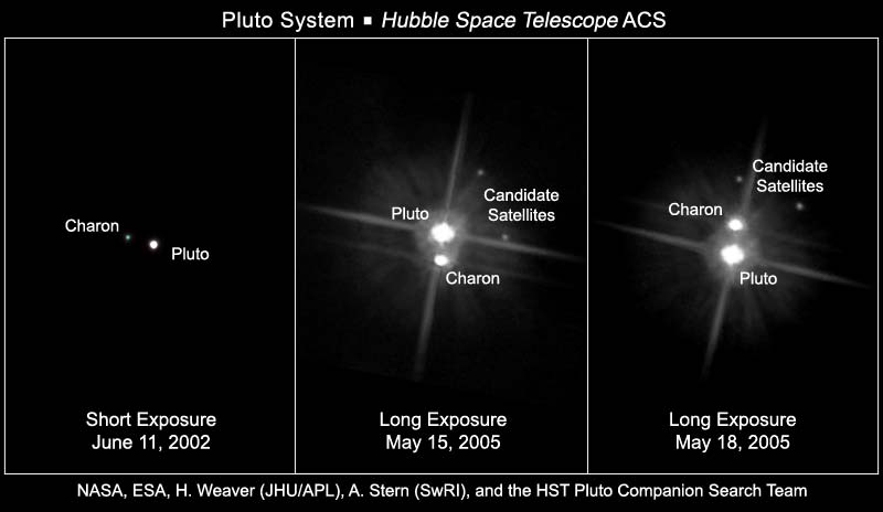 This is a NASA photo released into the public domain. It was sourced through Wikimedia Commons. http://commons.wikimedia.org/wiki/File:Pluto_System.jpg