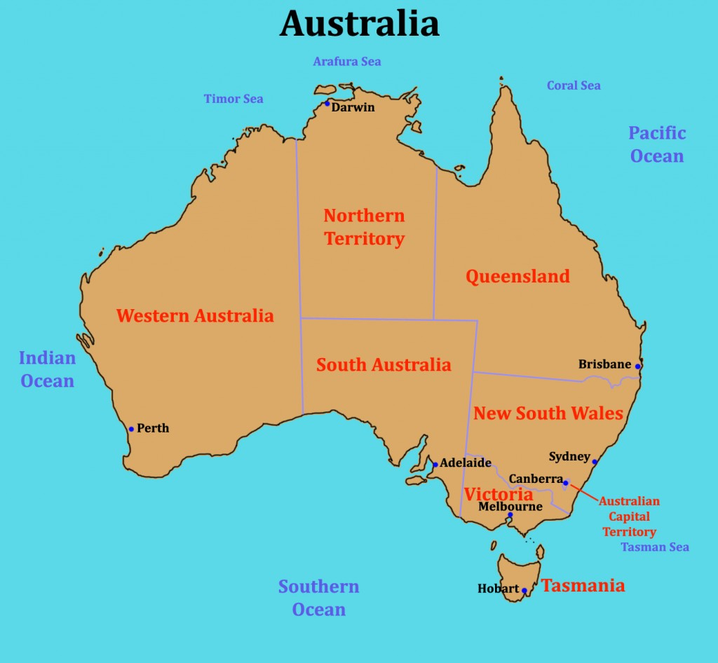 Some links for a class looking at Australia the worlds oceans – Australia Ocean Map