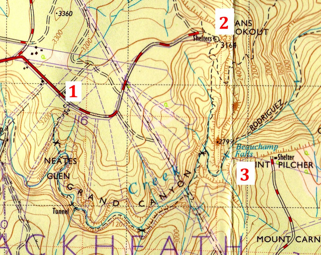 This is a scanned section of Central Mapping Authority of N.S.W. topographical map printed in 1970. I do not hold copyright over this image.
